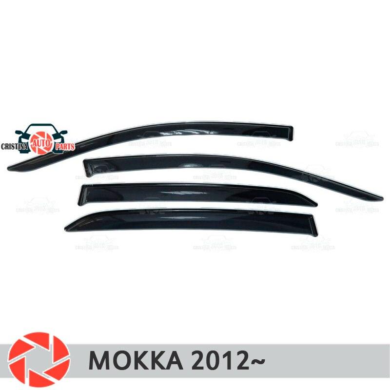 купить Window deflector for Opel Mokka 2012- rain deflector dirt protection car styling decoration accessories molding по цене 1550 рублей