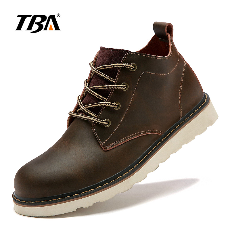 Taille 44 D'hiver Tba Bottes Brown dark Chaussures 38 Outillage Casual En Hommes Brown 5919 Light Cuir aqw4U