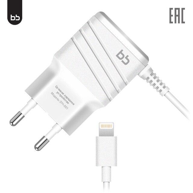 Сетевое зарядное устройство BB 014-001, USB, прочное, надежное зу,белый