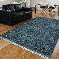 Innego ciemny niebieski etniczne Vintage turecki otomana projekt 3d drukuj Anti Slip Kilim zmywalny dekoracyjne Kilim dywan czeski dywan w Dywan od Dom i ogród na