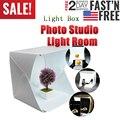 LED Klapp Leuchtkasten Fotografie Foto Studio Softbox Leuchtkasten 23*24 licht Zelt mit weiß schwarz hintergrund Zubehör box licht-in Tisch-Fotografie aus Verbraucherelektronik bei