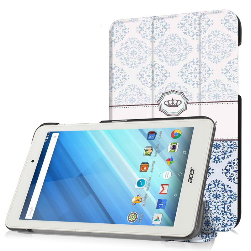 Color Printed Leather Tablet Case for Acer Iconia One 8 B1 850 Damask Pattern