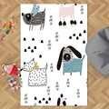 Sonst Weiß Etagen auf Haustiere Blau Grau Katzen Hunde 3d Print Non Slip Mikrofaser Kinder Kinder Zimmer Dekorative Bereich Teppich kinder Matte