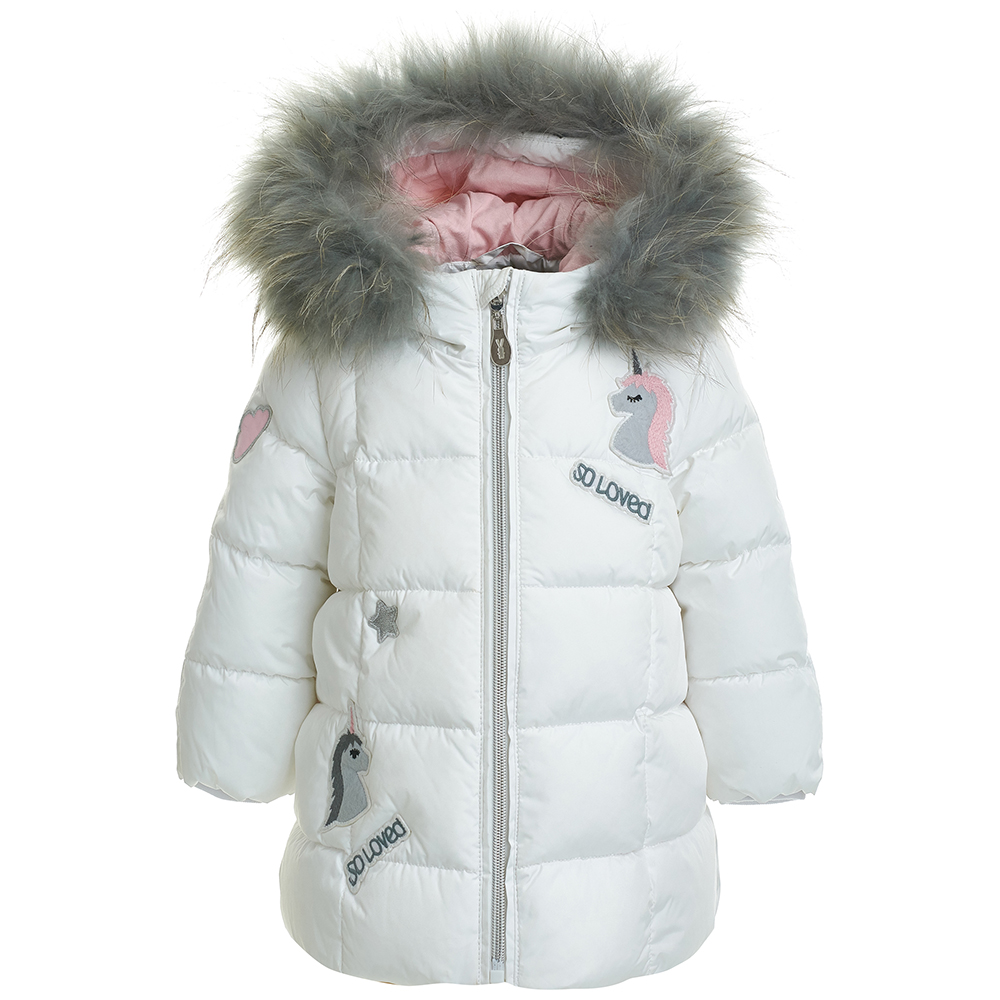 Jackets & Coats Gulliver for girls 21832GBC4502 Jacket Coat Denim Cardigan Warm Children clothes Kids womens winter long jacket cotton blend fur collar outwear parka warm coat down jackets