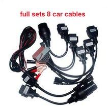 ¡Loco comprar! Cable OBD2 para todas las vd tcs cdp multidiag pro + wow snooper lotes completos 8 Uds Cables de coche obd2 herramienta de diagnóstico