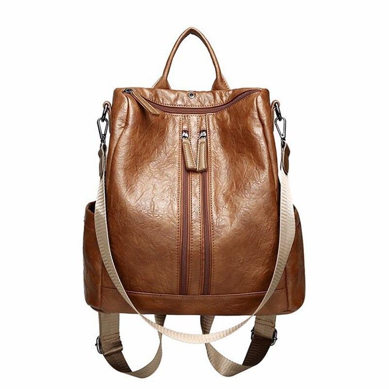 2018 summer high-quality PU, headphone jack, ladies backpack large capacity, shoulder bag, fashion trends, sirt cantasi