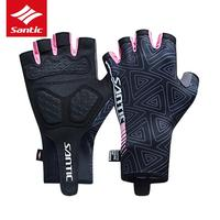 Santic Mens Breathable Cycling Gloves Washable Half Finger Racing MTB Feeling Breathable Anti pilling