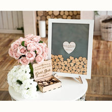 2019 Drop Box Guest Book Wedding Wooden Drop In Hearts Sign Book Unique Alternative Wedding Guest Book Frame White Central Heart(China)