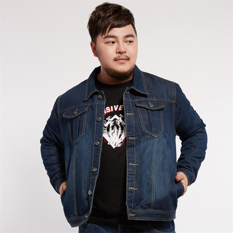 Plus size 10XL 9XL 8XL 6XL 5XL 4XL New Spring Autumn Men Coat Short Denim Jacket Overcoat Slim Jeans Motorcycle High Quality