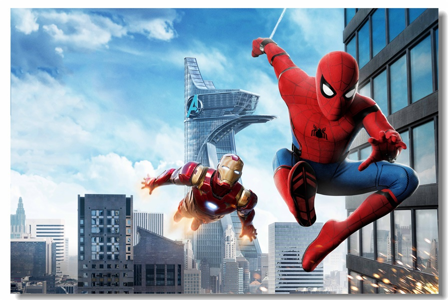 Popular marvel superheroes wallpaper buy cheap marvel - Poster mural spiderman ...