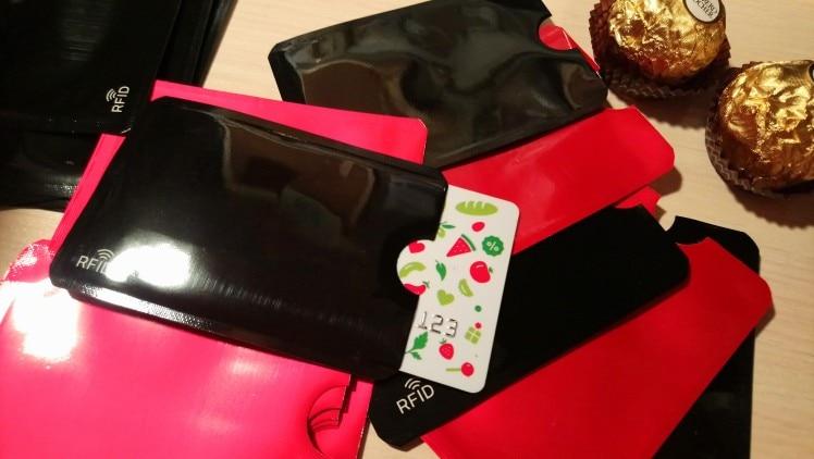10 pc's Creditcardhouder beschermer Aluminiumfolie Secure Sleeve RFID Blocking ID-houder Folie Shield paspoort Cover photo review