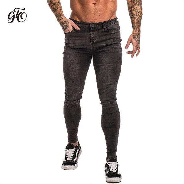 Talla Pantalones 28 De Hombre Gingtto Ajustados Para Grises Cómodos Zm09 36 Grande Vaqueros Ju13KcTlF