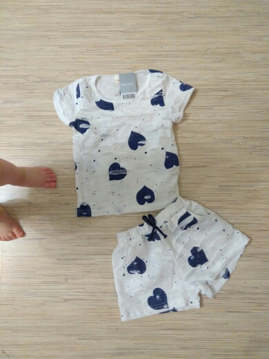 8a54fec44981 Hurave 2pc Casual Kids Clothing Baby Girls Clothes Sets Summer Heart ...
