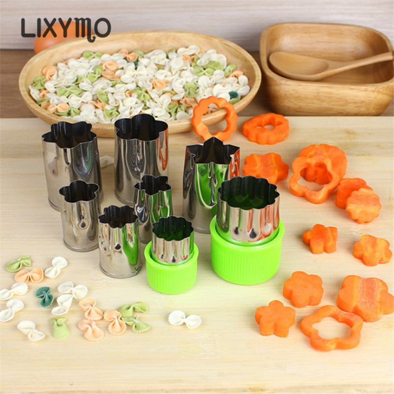 LIXYMO 8st / set Farfalle DIY Mögel Frukt Grönsaker Kakor Dessert - Kök, matsal och bar