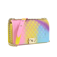 women messenger bags crossbody for women 2018 Transparente Chains pvc jelly bag Shoulder Famous Brand Luxury High Quality ME849