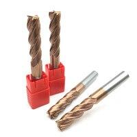 1PC Diameter 18MM HRC60 Solid Carbide Endmills Length 100mm 150mm 4 Flute Flat End Mills Spiral Bits CNC Endmill Router Bits