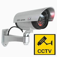 fake camera outdoor dummy waterproof cctv security wifi camera blinking Red LED bullet indoor simulation surveillance fake cam