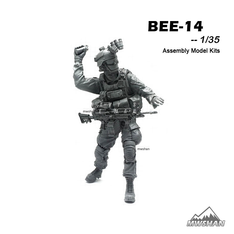 YUFAN 1/35 BEE-14 BEE Series Modern U.S Army Assembly Military Resin Miniatures Model Building Kits