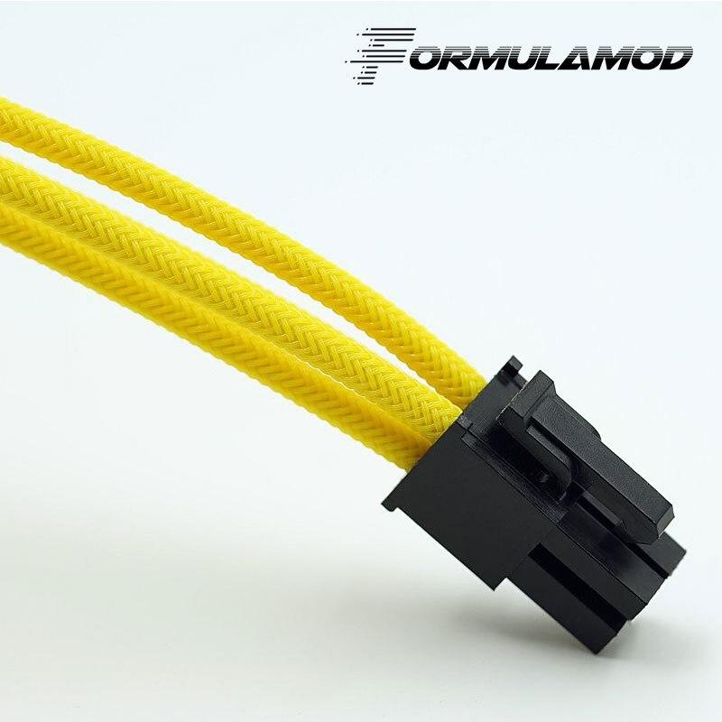 FormulaMod Fm-cpu 4P-A, cpu 4Pin удлинитель питания, материнская плата 18AWG 4Pin многоцветные соответствующие кабели расширения - Цвет лезвия: Yellow