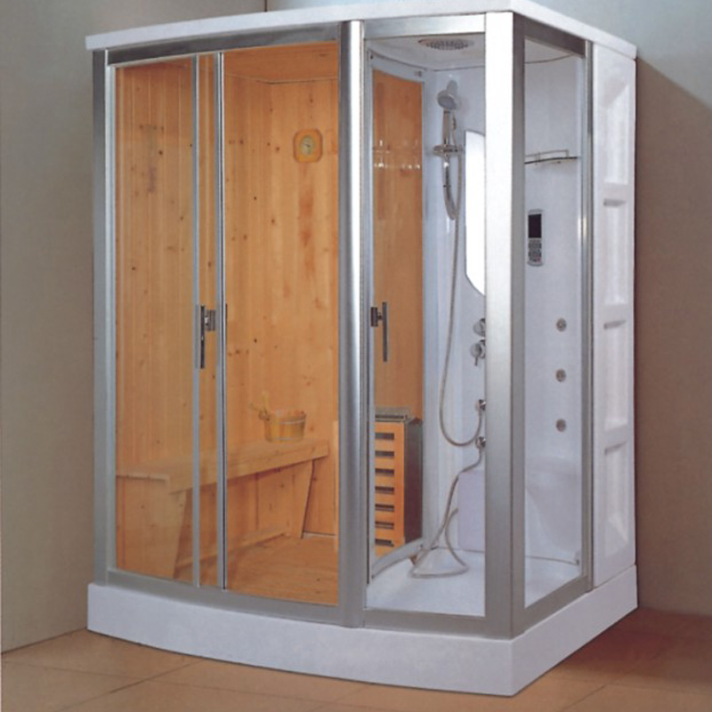 Home wood one/two person portable steam sauna room with ...