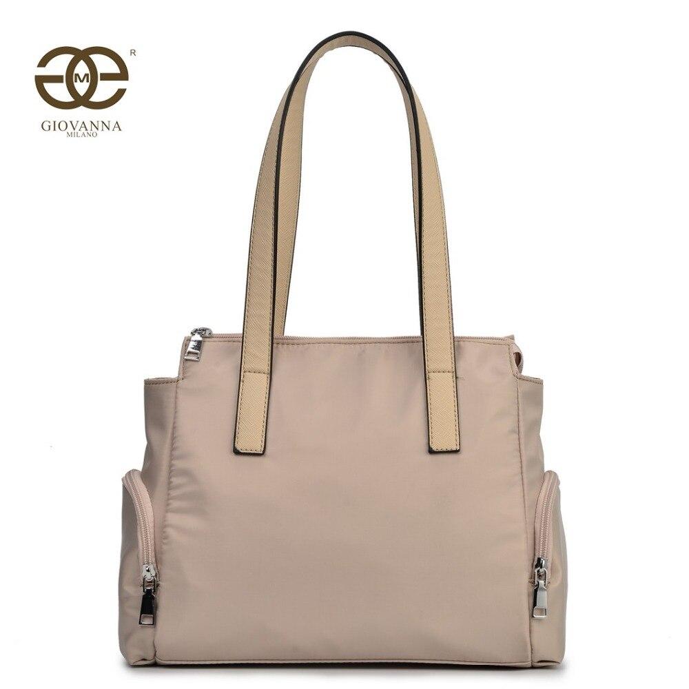 a801f0a04 Giovanna Milano bolso mujer de hombro tote grande tela color liso bolsillos  con cremalleras diseño de marca famosa lujo T10368 en Bolsas de hombro de  Bolsos ...