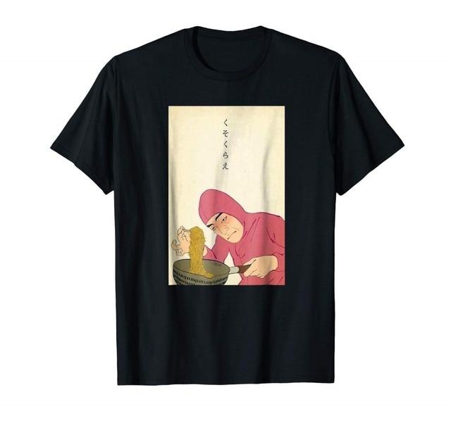 Người Đàn Ông Lạ Ramen Hơi Sóng Thẩm Mỹ Nghệ Thuật Meme Hồng Anh Chàng 2019 Mới Hợp Thời Trang Bán Nam Cao Cấp Logo Áo Sơ Mi