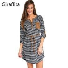Giraffita Women Blouses Long Sleeve Plaid Shirts O Neck Shirt Casual Tunic Feminine Irregular Blouses Plus Size Tops