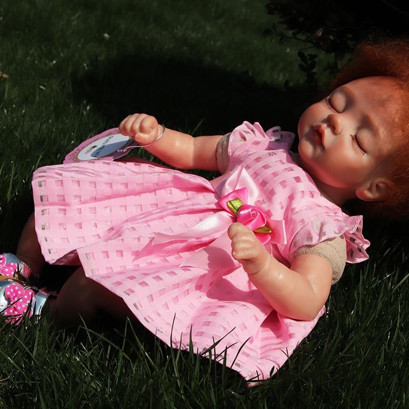 Nueva Moda17 Pulgadas Reborn Muñecas de Silicona de Cuerpo Completo - Muñecas y accesorios - foto 5