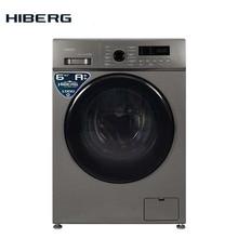Стиральная машина HIBERG WQ2-610 S серебристая, 6 кг, 1000 об/мин., А++ класс энергоэффективности, расход воды 48 л на цикл