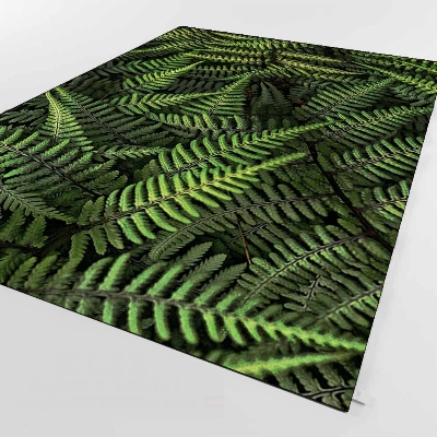 Else Tropical Green Black Pine Leafs Florals 3d Print Non Slip Microfiber Living Room Decorative Modern Washable Area Rug Mat