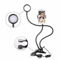 Sokani Led Selfie Ring Light With Flexible Clip Phone Holder For Youtube Stream Video Chat Live