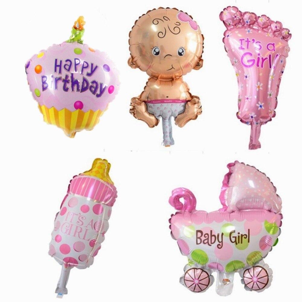5 STKS Mini Kids Set Ballonnen Baby Douche Folie Ballonnen voor 1st - Feestversiering en feestartikelen