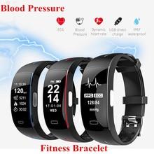 цены на Blood Pressure Fitness Smart Watch Men Women Heart Rate Tracker Sport Fitness Bracelet IP67 Waterproof Smart band PK Mi band 2  в интернет-магазинах
