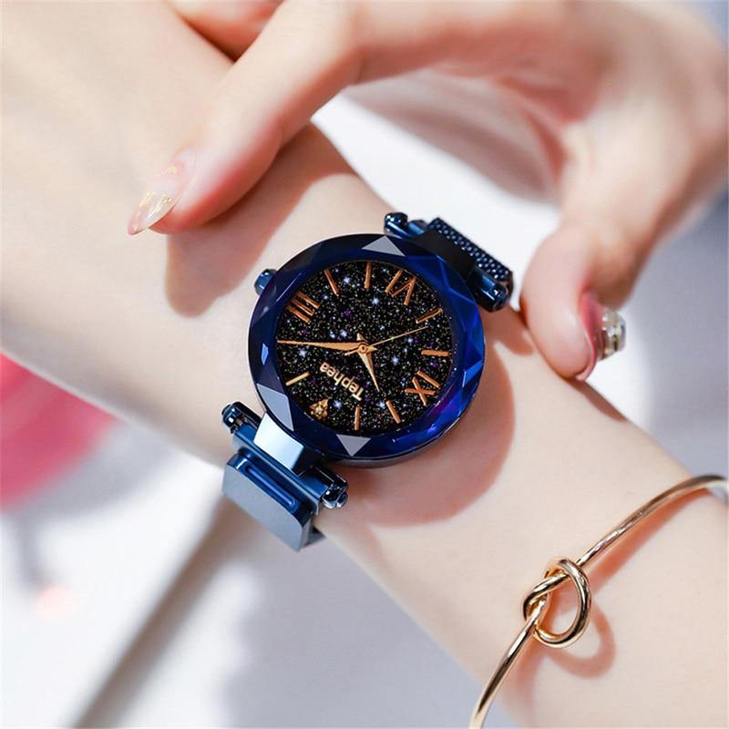 Luxury Women Watches Magnetic Starry Sky Female Clock Quartz Wristwatch Fashion Ladies Wrist Watch reloj mujer relogio feminino (14)