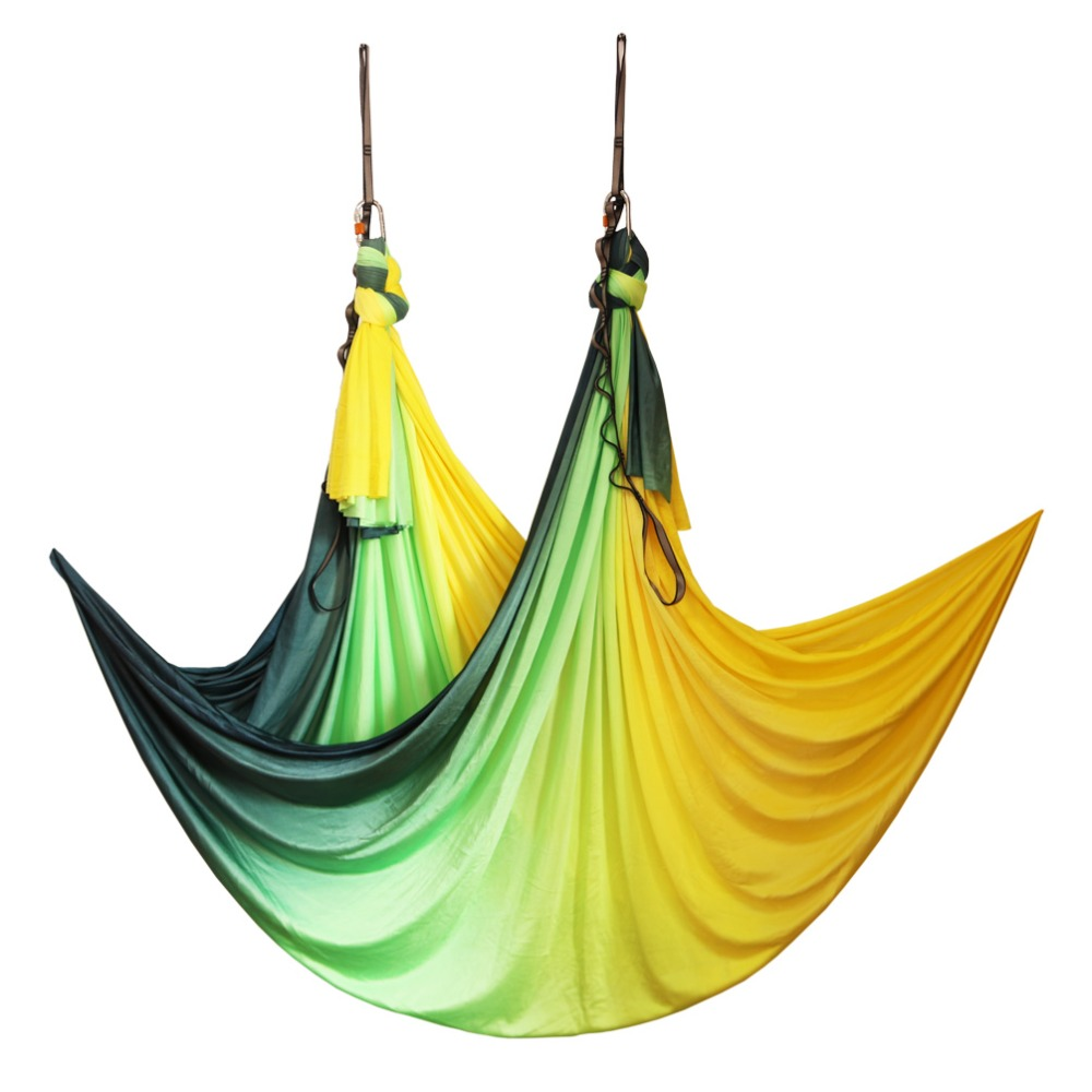 купить 2019 New Anti-gravity Aerial Yoga Hammock Air Swing Flying Yoga Bed Bodybuilding Gym Fitness Equipment Inversion Trapeze по цене 4413.04 рублей