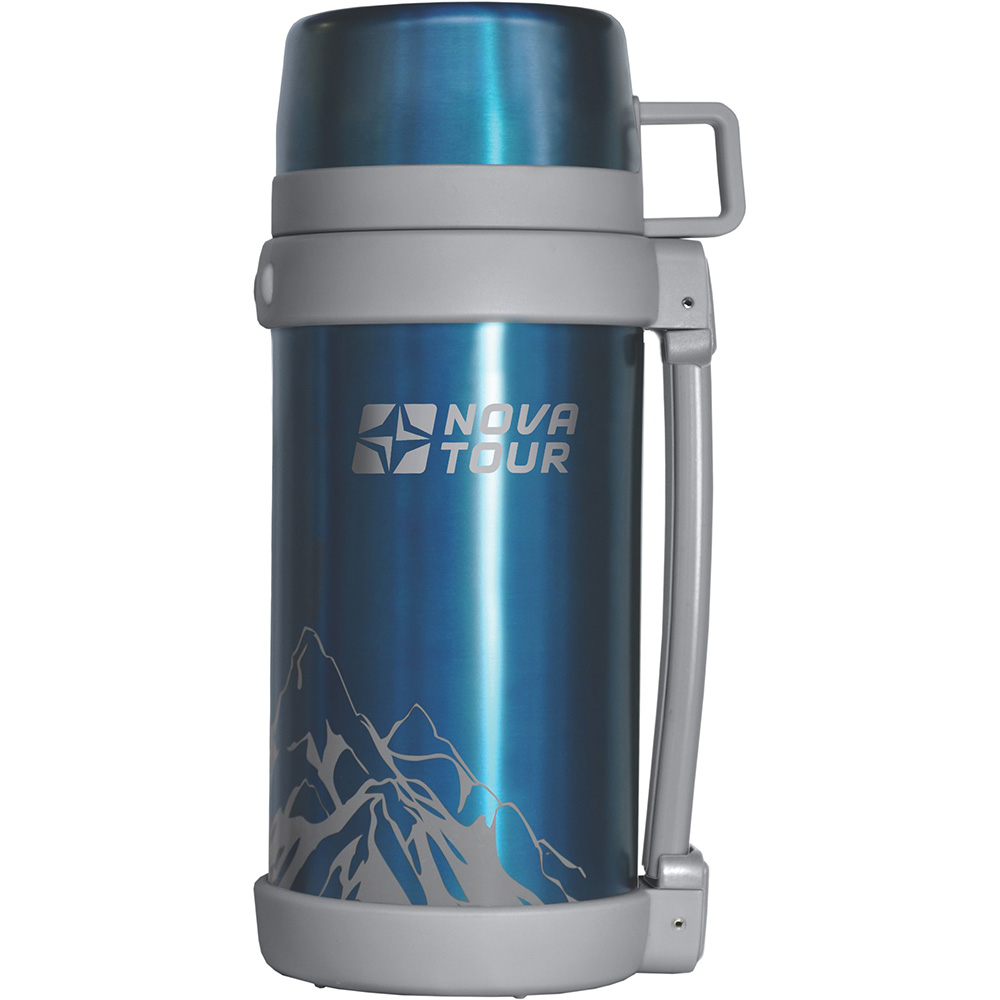 1,2 L home and travel thermos hiking camping stainless steel bottle with cup