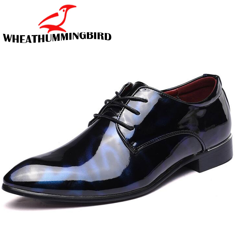 2018 Size 46 47 British Fashion Mature Man Pu Leather Shoes Wedding Business Dress Man Pointed Toe Brogue Bullock Shoes Ra-27 Formal Shoes