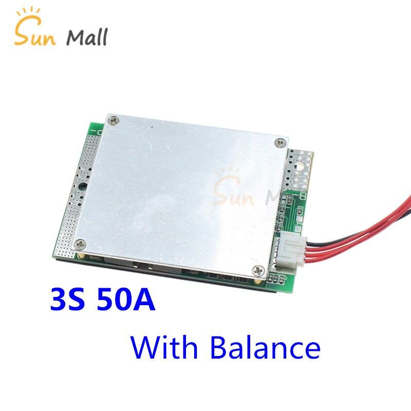 3 s 50A BMS módulo bordo con equilibrio 12 v Protección de la batería de litio