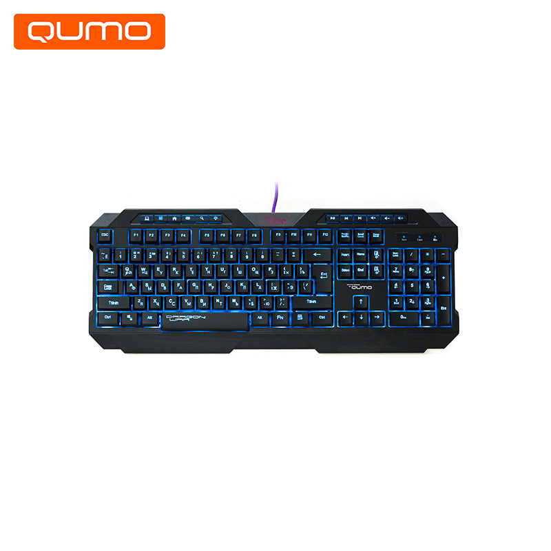 Gaming Keyboard Qumo Fallen K02 kanglang 4d multi function electric foot massager circular massage airbags heat scrap leg machine old man leg massager device