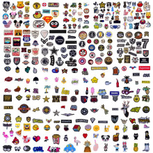 (1000 Differents Styles Random) Patch Embroidery Iron on Patches For Clothing DIY Decoration Clothes Stickers Appliques Badge