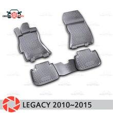 Коврики для Subaru Legacy 2010 ~ 2015 ковры Нескользящие полиуретановые грязи защиты интерьер автомобиля средства укладки волос