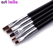 Nail-Art-Brush Tips Painting Extension-Design-Tools Clean-Builder Manicure Uv-Gel-Polish