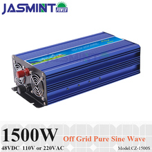 1500W 48VDC Off Grid Inverter, Surge Power 3000W for 110VAC or 220VAC Home Appliances in Solar Wind System