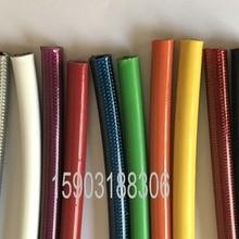 """Красочные AN3(3,2 мм 1/"""" ID) покрытые ПВХ плетеный из нержавеющей стали гоночный тормозной шланг 5 м"""