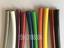 Colorful AN3 (3.2mm 1/8 ID) Coverred PVC Braided Stainless Steel Racing Brake Hose Lines 5M