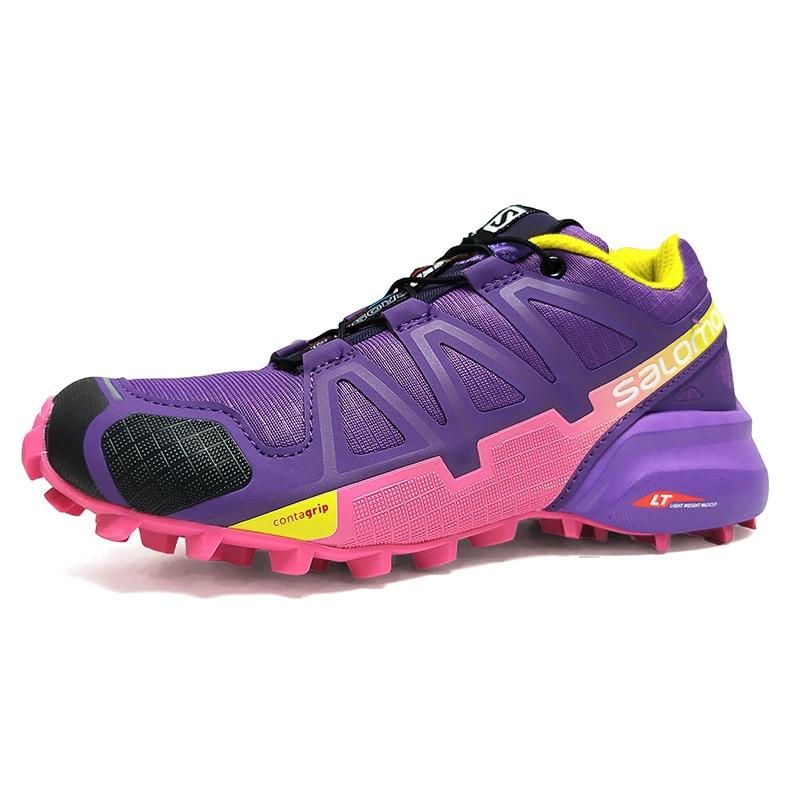 2018 Salomon Speed Cross 4 Free Run Salomon Sport Shoes JOGGING Outdoor Running DAMPING Sneakers Women SHOES 36-41 3COLORS шапка salomon salomon free желтый