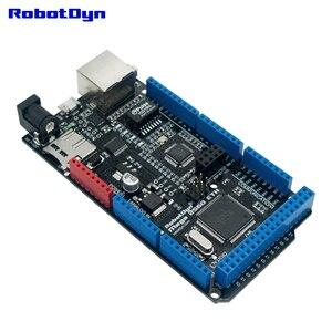 Image 2 - شحن مجاني ميجا 2560 ETH R3 مع ATmega2560 وإيثرنت W5500 ، مايكرو SD ، USB UART CP2104 ، مقبس واي فاي ESP 01