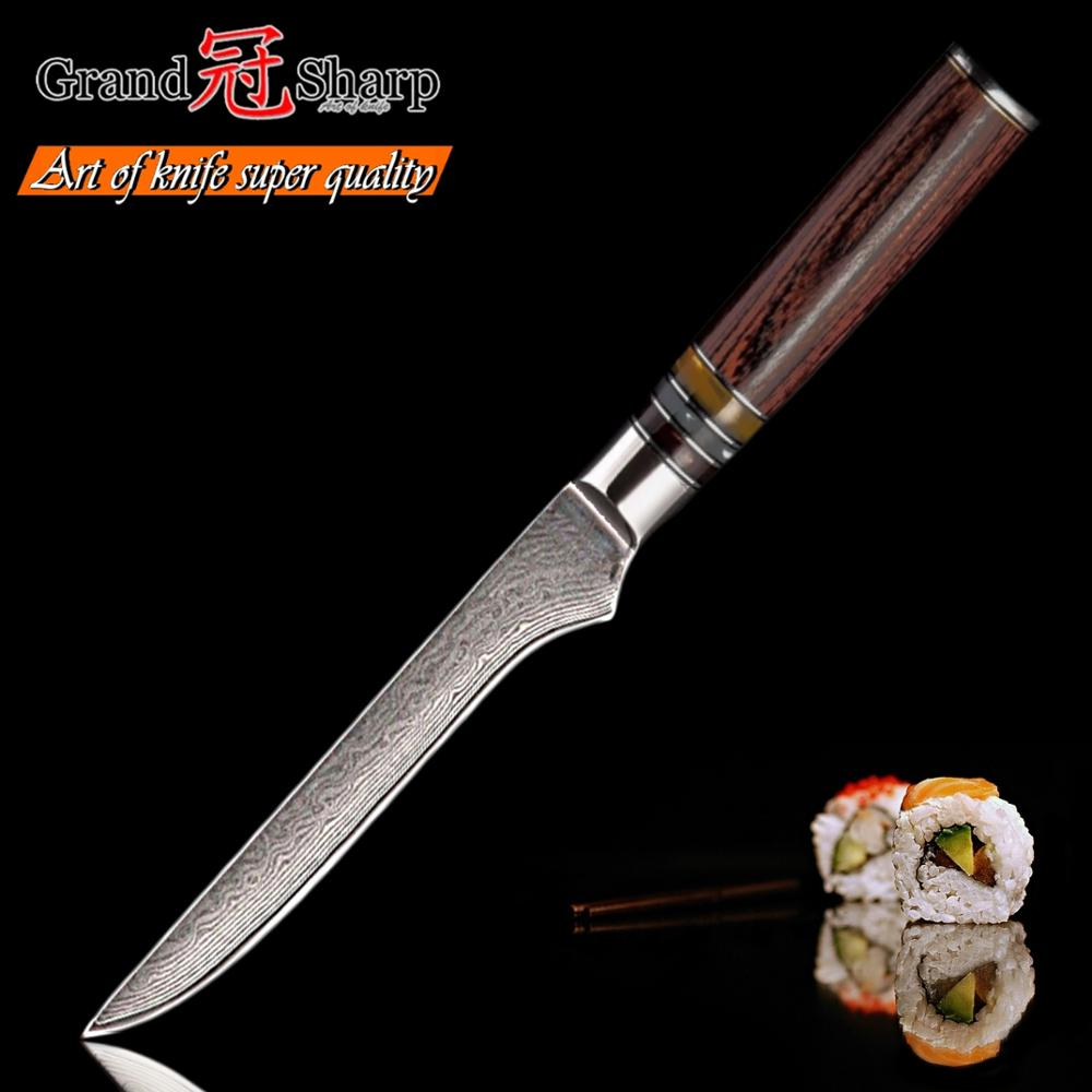 Damascus Boning Knife 5 5 Inch 67 layers Japanese Damascus Stainless Steel Chef Kitchen Knives vg10