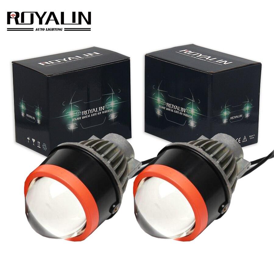 ROYALIN Bi светодиодный Противотуманные фары Автомобильная прожекторная линза Водонепроницаемый легко Установка Привет/Lo 3,0 Универсальная ла