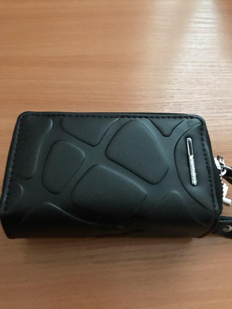 COWHERD 4 Colors Brand Multifunction Bag Women & Men Genuine Cow Leather  key holders Double Zipper Key Card Wallet Car Key Case photo review